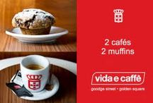 Happiness in a cup! / Life is about the comfort of good food and a superb cup of coffee!