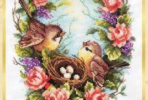 Вышивка крестом - Птицы
