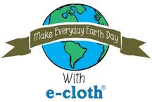 Every Day is Earth Day with e-cloth / Make every day Earth Day with e-cloth. Using an e-cloth is a simple way to be kind to the environment. e-cloth works hard to do what's right for the environment to keep our planet safe for generations to come.