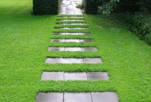 Pathways, stepping stones, steps and walls