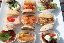 Mini belegde broodjes