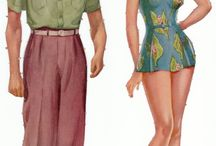 Paper Dolls / I grew up playing with paper dolls in the 50s.  They still capture my imagination.