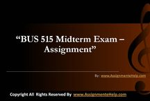 BUS 515 Midterm Exam Assignments