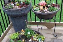 Kids fairy gardens / Cute fairy garden ideas to do yourself :)