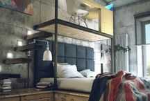Funky bedrooms / by Debbie Rooney
