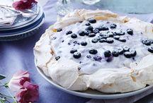 Kager /desserter med blåbær