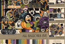 {All Hallows Eve} Kit, Extras and Layouts