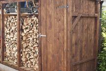 drevené prístrešky