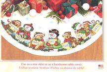 borduurpatroon kerstkleed