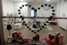 Valentine's Day / Comemoramos assim o Dia dos Namorados (valentine's day windows display)