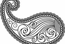 Paisley designs / Paisley patterns, paisley designs.
