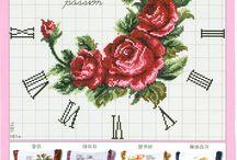 róże zegar
