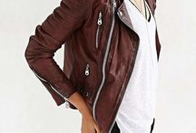 Burgundy Leather Jackets
