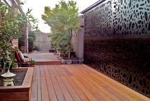 Weathertex Outdoor Screens /  Indoor or Outdoor ( Decorative Screens, Privacy Screens ) Weathertex is a reconstituted compressed hardwood. 100% natural: 97% natural timber and 3% natural wax. Good for the planet and your backyard.