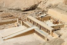 Egyptian Architecture / The first great civilization to emerge around the Mediterranean basin was that of Egypt (c.3100-2040 BC). In addition to its own written language, religion and dynastic ruling class, it developed a unique style of architecture, largely consisting of massive burial chambers in the form of Pyramids (at Giza) and underground tombs (in the desolate Valley of the Kings, Luxor). Design was monumental but not architecturally complex and employed posts and lintels, rather than arches.