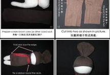 muñecas calcetas
