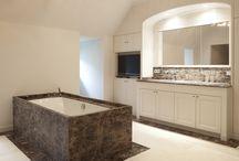 Badkamers / Villabouw Sels bouwt en renoveert mee aan uw landelijke of moderne badkamer.