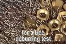 Magnetic Deburring / There are many deburring processes, but the most common are mass-finishing, media blasting, sanding, grinding, abrasive flow machining, electrochemical deburring, and manual deburring. Mass finishing is a group of mfgg processes that allow large quantities of parts to be simultaneously finished. The goal of this type of finishing is to burnish, deburr, clean, radius, de-flash, descale, remove rust, polish & brighten. Our MAGNETIC deburring method is relatively new technology being used in Mfg