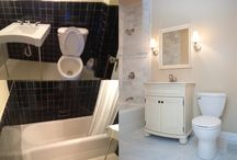 Before and After / #beforeandafter #renovation #bathroom #kitchen