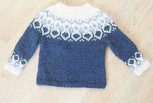 Knitting baby sweaters / cardigans