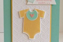 Baby Cards / Fun, sweet and cute baby cards for announcements, thank you and birthdays.  Carol Lovenstein www.pinkstampagne.com