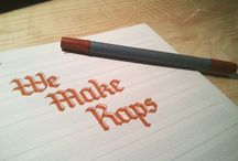 Calligraphy / Obsessed .