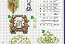 výšivka - fantasy - keltské vzory