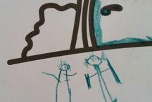 Simin Ece  ve Beril Banu child art