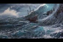 tormenta en el mar..