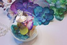 Hydrangea flowers necklace in Sterling Silver 925 from 20€