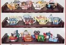 red rose tea pots