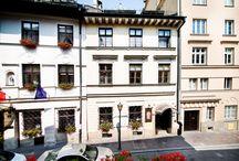 Hotel Mikołaj / Do Państwa dyspozycji oddajemy 34 miejsca noclegowe w 11 przytulnych i kompleksowo wyposażonych pokojach oraz 2 apartamentach na poddaszu. Ponadto, w zabytkowych piwnicach znajduje się przytulna sala mogąca pomieścić nawet 50 osób gdzie organizowane są imprezy okolicznościowe.