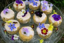 Floral Bakes / Any bakes, bread, biscuits, cake, puddings that include flower flavours such as rose, lavender, violet and geranium. Or Bakes using fresh flower decorations.