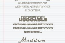 Fonts, Printables & Typography