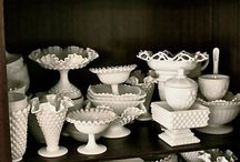 Milk Glass and Hobnail