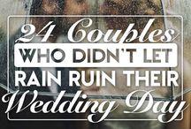 Raining wedding day