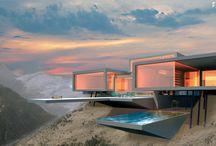 Moderne Architektur / Bauwerke aller Art im Stil der modernen Architektur.