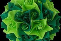 grün - green - vert / Grünschattierungen