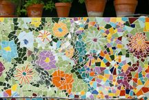 Parede de mosaicos