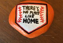 Sports painted rocks