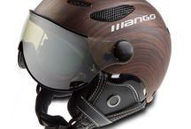 Mango Skihelm Inspiratie / Het Italiaanse designnmerk Mango is met enkele fraaie nieuw modellen op de markt gekomen! Zo is er voor de wintersporters die wat speciaals willen skihelm met vizier van Mango met een houtstructuur, 3 fluorkleuren en een carbonuitvoering!