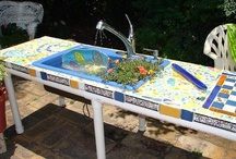 Mosaic Garden Sink