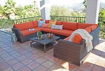 U Shaped Sectionals / Host your friends, family, or next party on these roomy and engaging wicker sectionals.