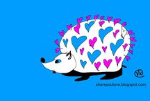 """http://shareyoulove.blogspot.ru/ /  """"Share Your Love"""" © offers free colorful art and video hearts"""