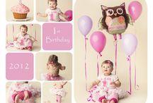 First Birthday collage ideas