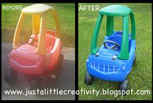 Refurbished Products / Old items made new! Great ideas to reuse your kids old stuff.
