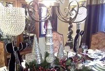 Christmas Tablescape / Christmas home decor, dining room tour and ideas.