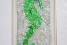mosaic glass sea horse etc