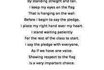 Respect the Flag / Respecting the Flag poem explains how to show respect to the flag during the Pledge of Allegiance.