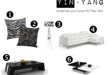 Yin & Yang / Yin & Yang can be complementary, rather than opposing. Let these opposites tie together and modernize any room to welcome the New Year.